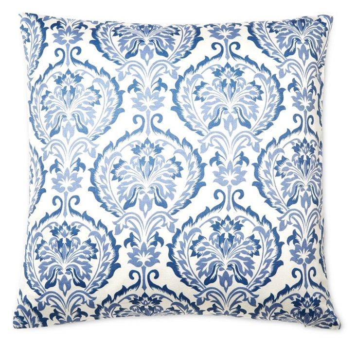 Anna 20x20 Cotton Pillow, Blue