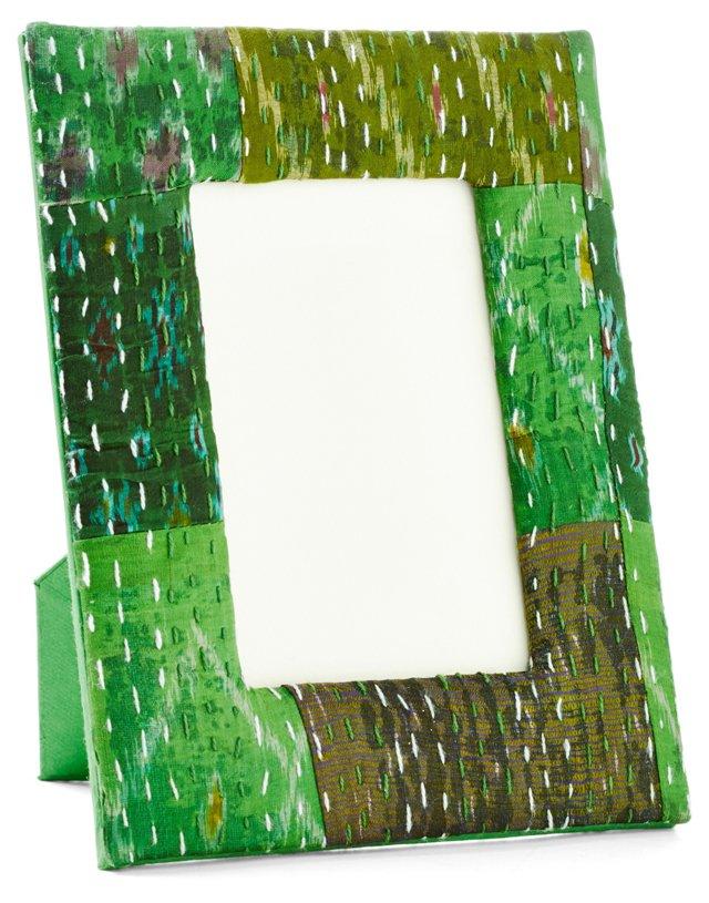 5x7 Ikat Frame, Green