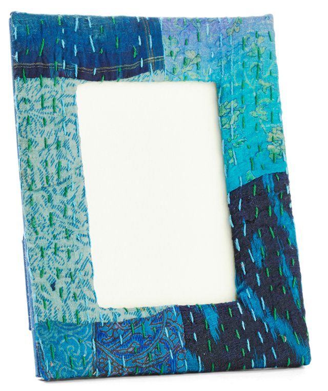 4x6 Ikat Frame, Blue
