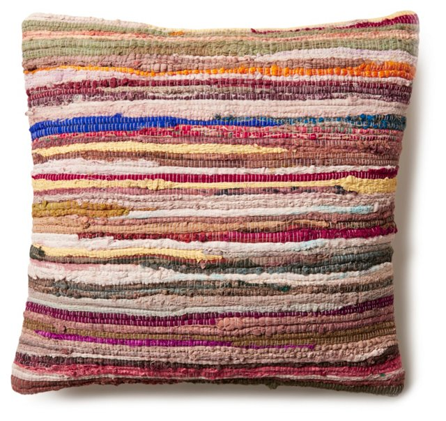 Kilim 20x20 Wool-Blend Pillow, Multi