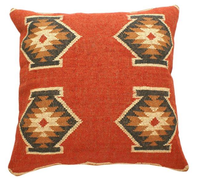 Eyer 30x30 Wool-Blend Pillow, Multi