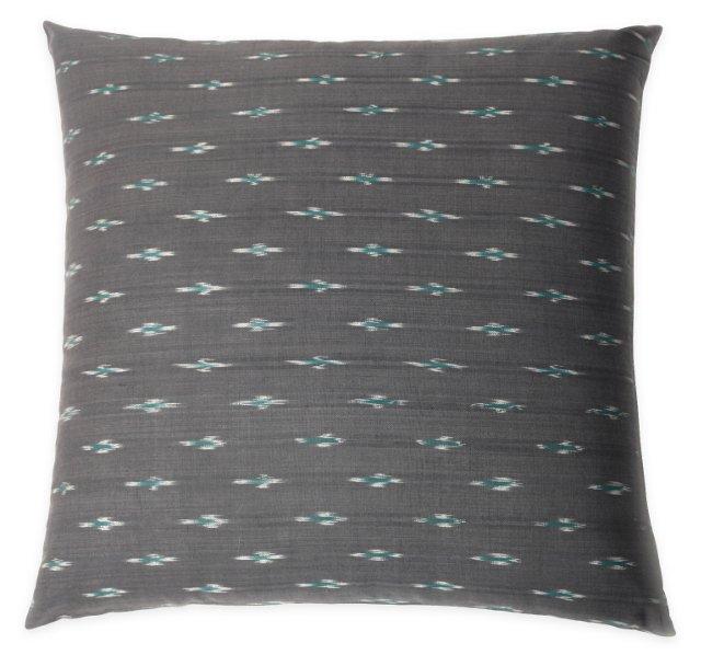 Riley 20x20 Cotton Pillow, Gray
