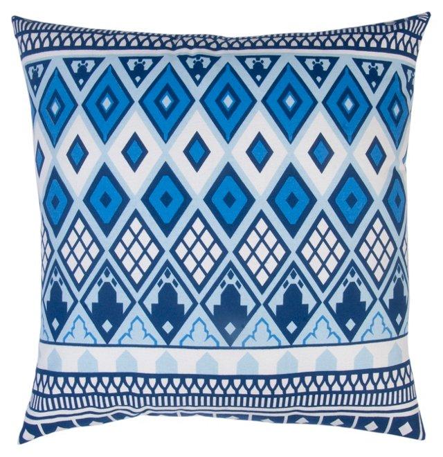 Selena 20x20 Cotton Pillow, Blue