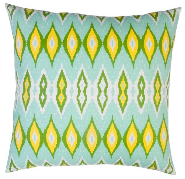 Cara 20x20 Cotton Pillow, Lime