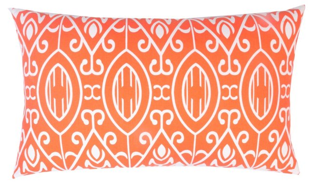 Scroll 14x24 Cotton Pillow, Orange