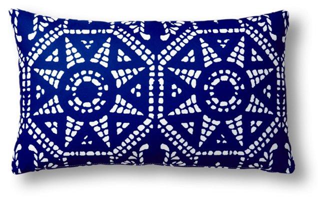 Mosaic 14x24 Outdoor Pillow, Blue