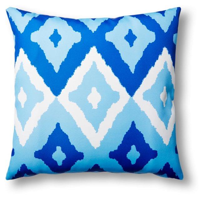Del Mar 20x20 Outdoor Pillow, Blue