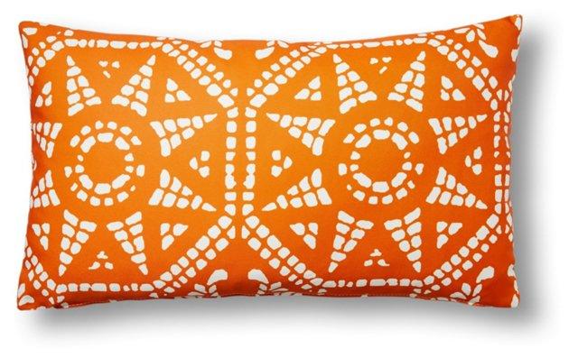 Mosaic 14x24 Outdoor Pillow, Orange