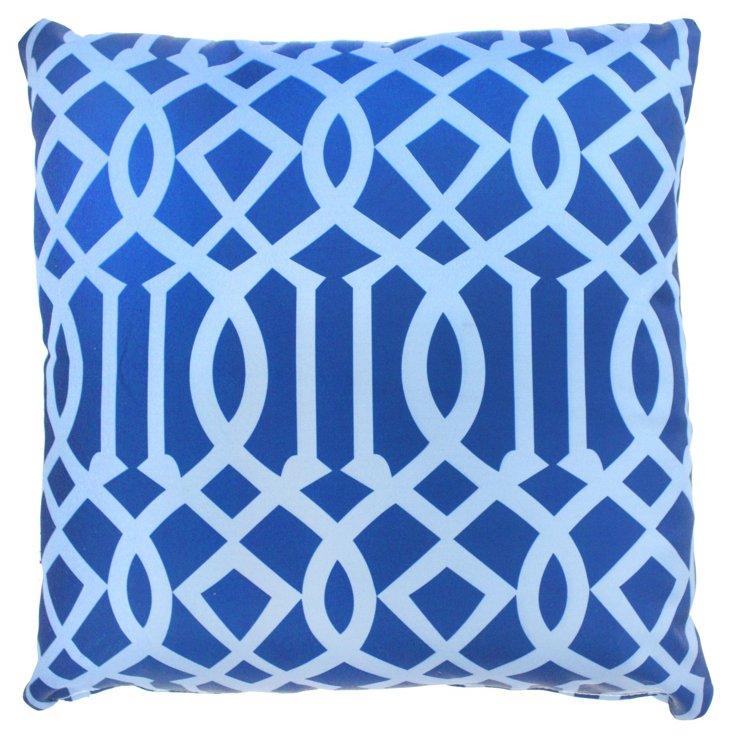 Variance 20x20 Outdoor Pillow, Blue