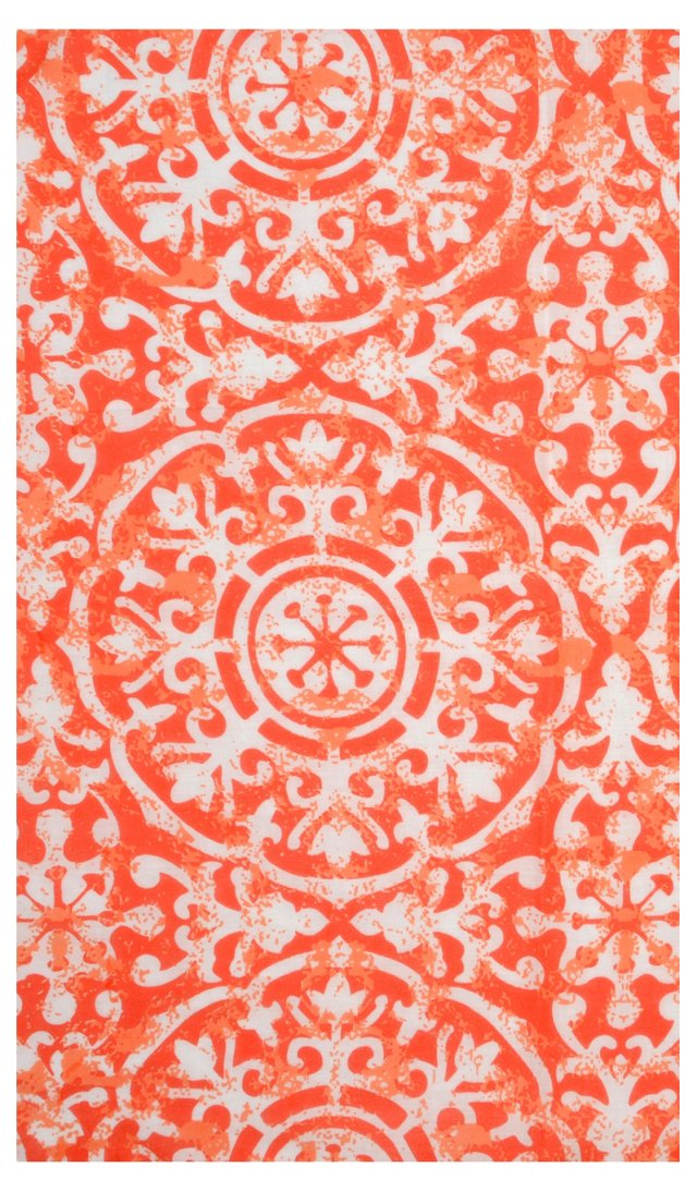 S/4 Medallion Dinner Napkins, Coral