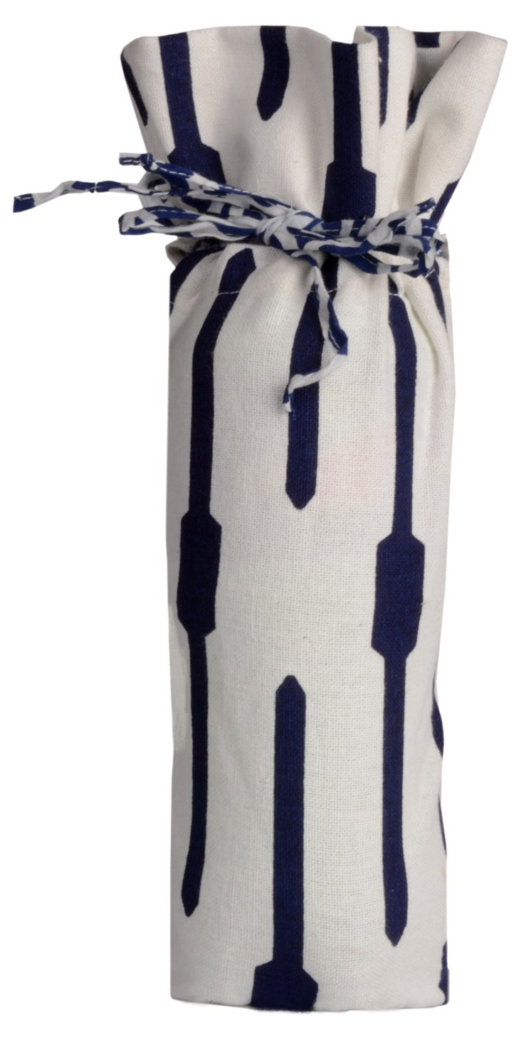 Geo Wine Bag, Navy
