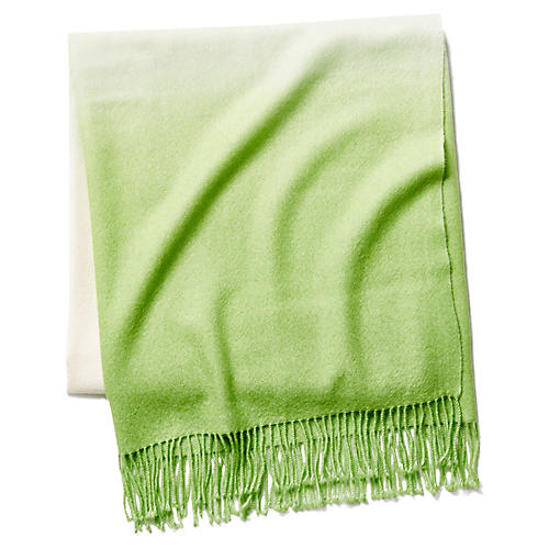 Dip-Dye Throw, Pistachio
