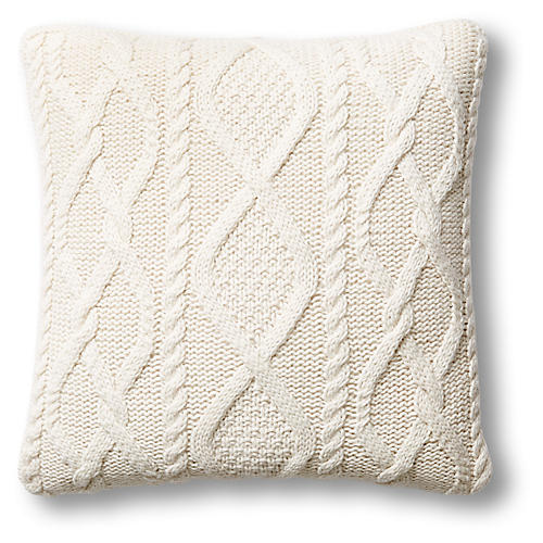 Chalet 24x24 Cable Pillow, Natural