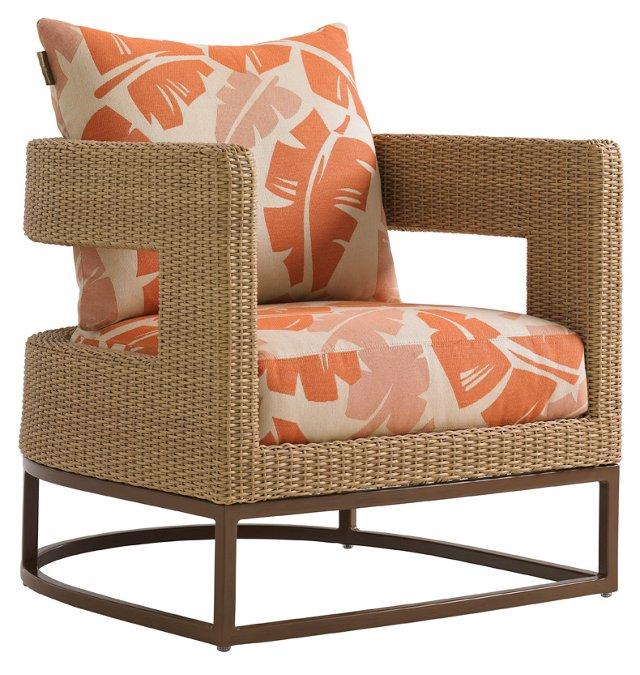 Aviano Barrel Chair, Papaya