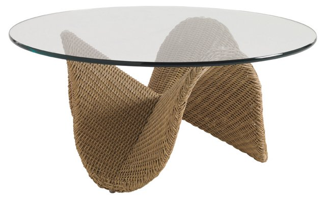 Aviano Round Glass Cocktail Table