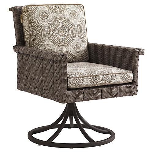 Olive Swivel Rocker Chair