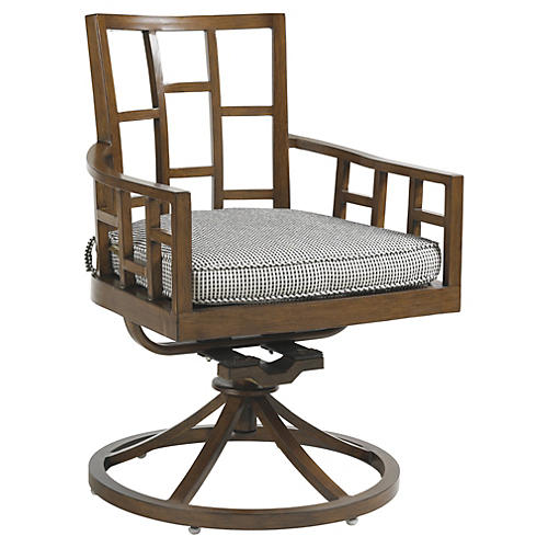 Pacifica Outdoor Armchair, Sky Sunbrella