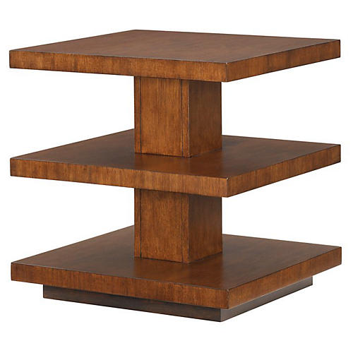 Lagoon 3-Tier Side Table, Tawny