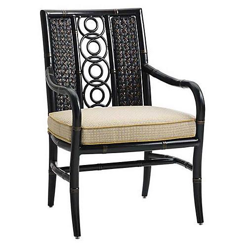 Marimba Armchair, Gold Sunbrella