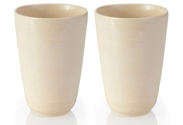 White Tumblers, Set of 2