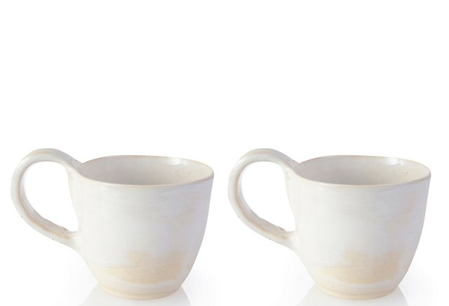 White Cups, Set of 2