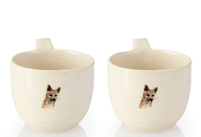 Fox Cups, Set of 2