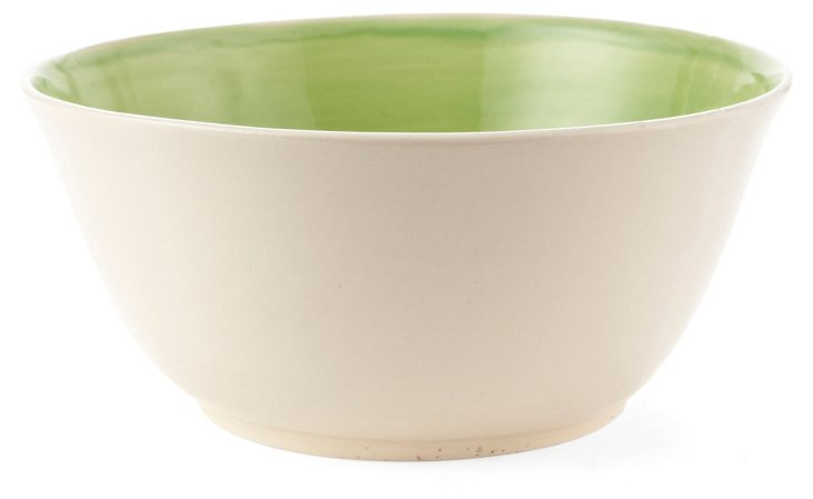 Green & White Fruit Bowl