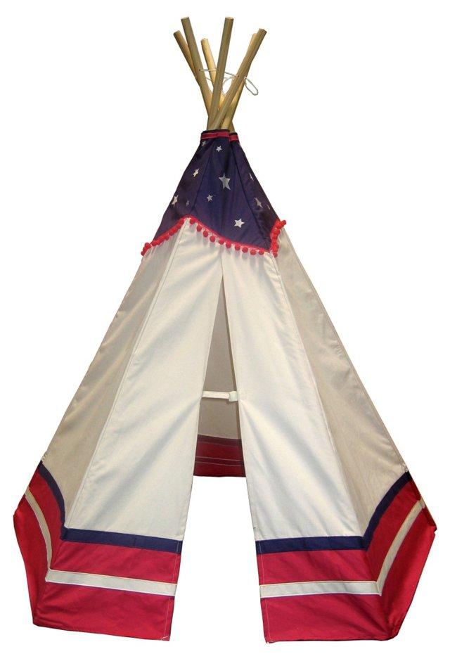 6' American Teepee, Blue/Red