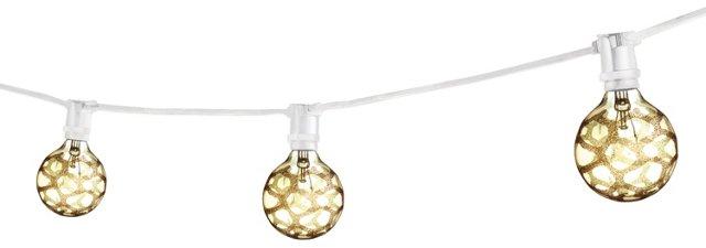 Savannah Outdoor String Lights, White