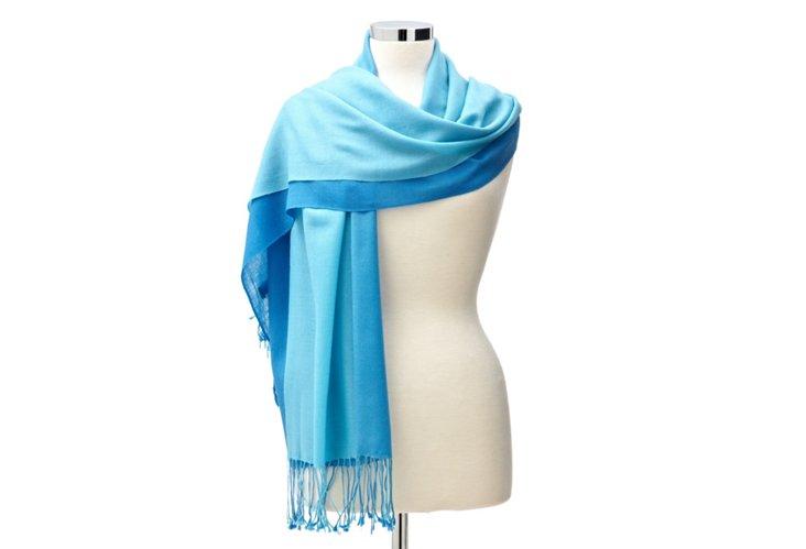 Ombre Shawl, Blue