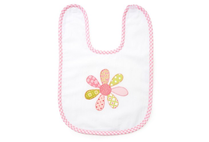 Funky Flower Large Bib