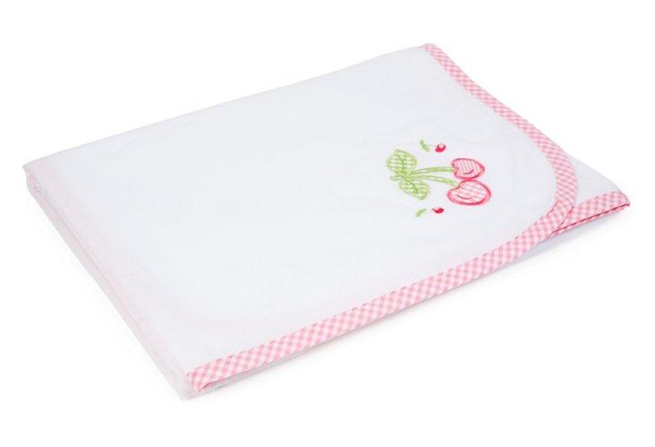 Cherry Receiving Blanket