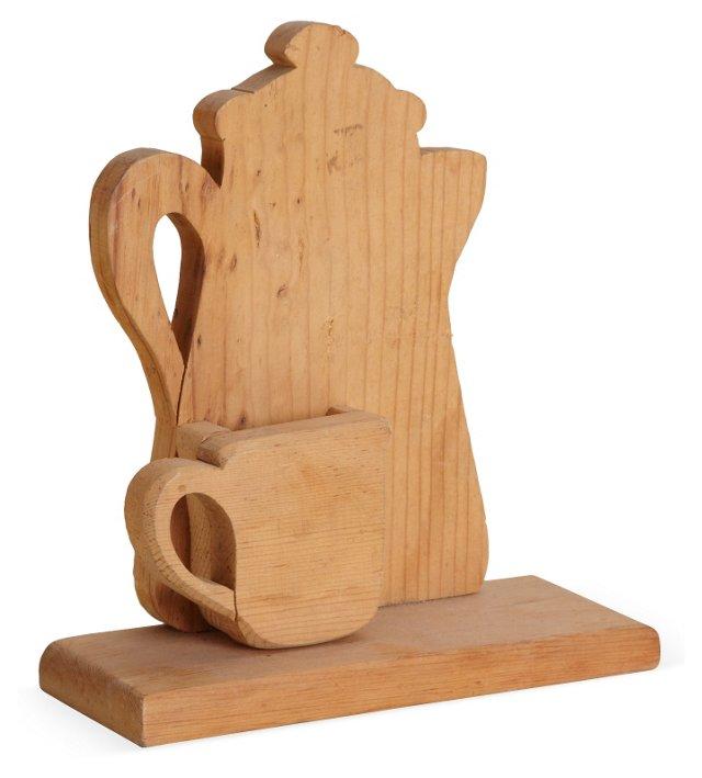1950s Coffeepot & Cup Sculpture