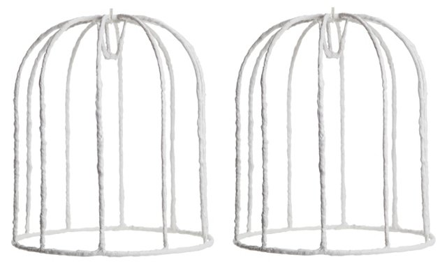Antonson Plaster Shade Frames, Pair