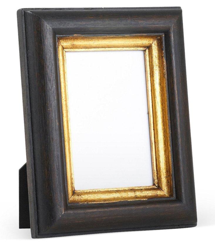 Dark Brown Carved Wood Frame 5x7