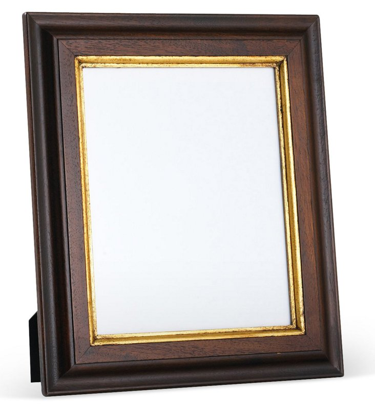 Carved Wood Frame w/ 24-Kt Gold, 5x7