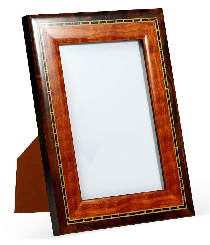 Two-Tone Frame, 4x6, Brown