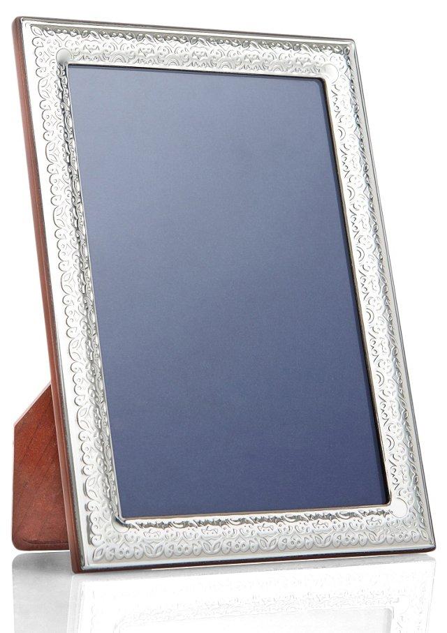 Sterling Silver Floral Frame, 5x7
