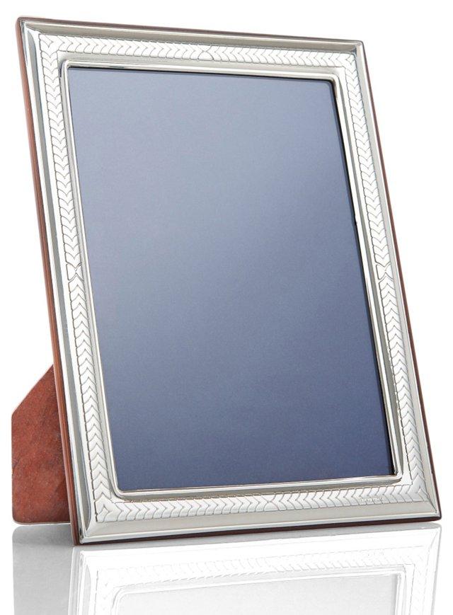 Sterling Silver Chevron Frame, 4x6