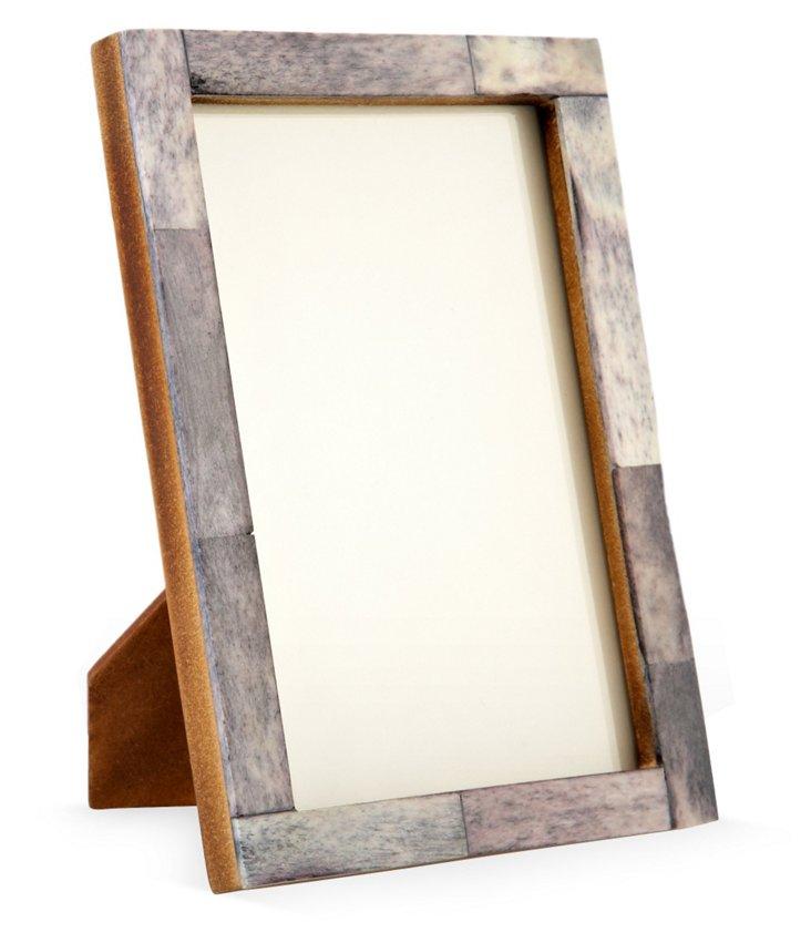 5x7 Skinny Horn Frame, Gray