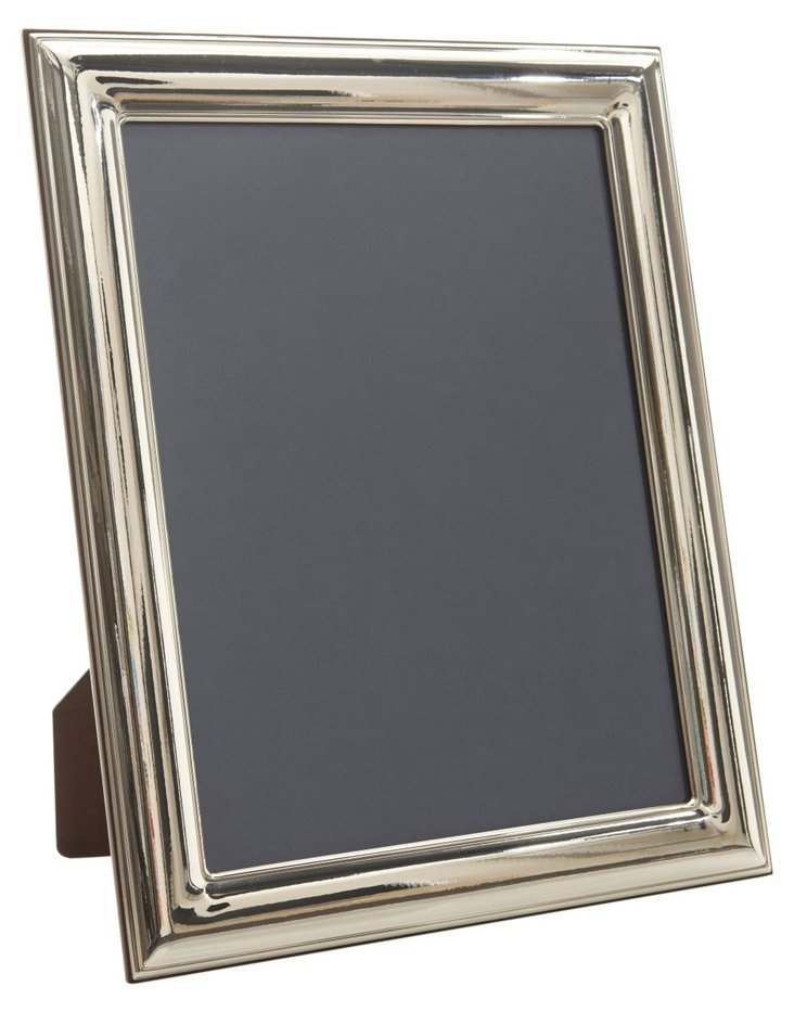 Sterling Silver Wide Smooth Frame, 4x6