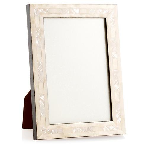 Opalescent Wedding Frame, 4x6, Ivory