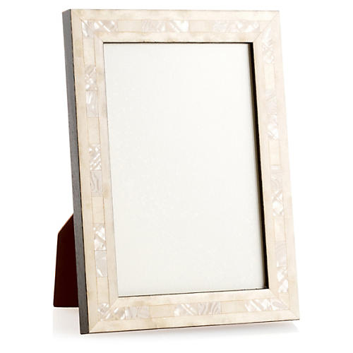 Opalescent Wedding Frame, 8x10, Ivory