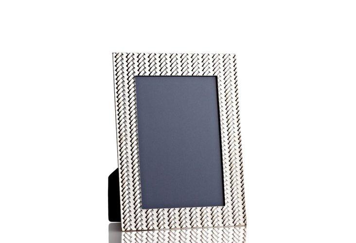 Basketweave Frame, 4x6, Pewter