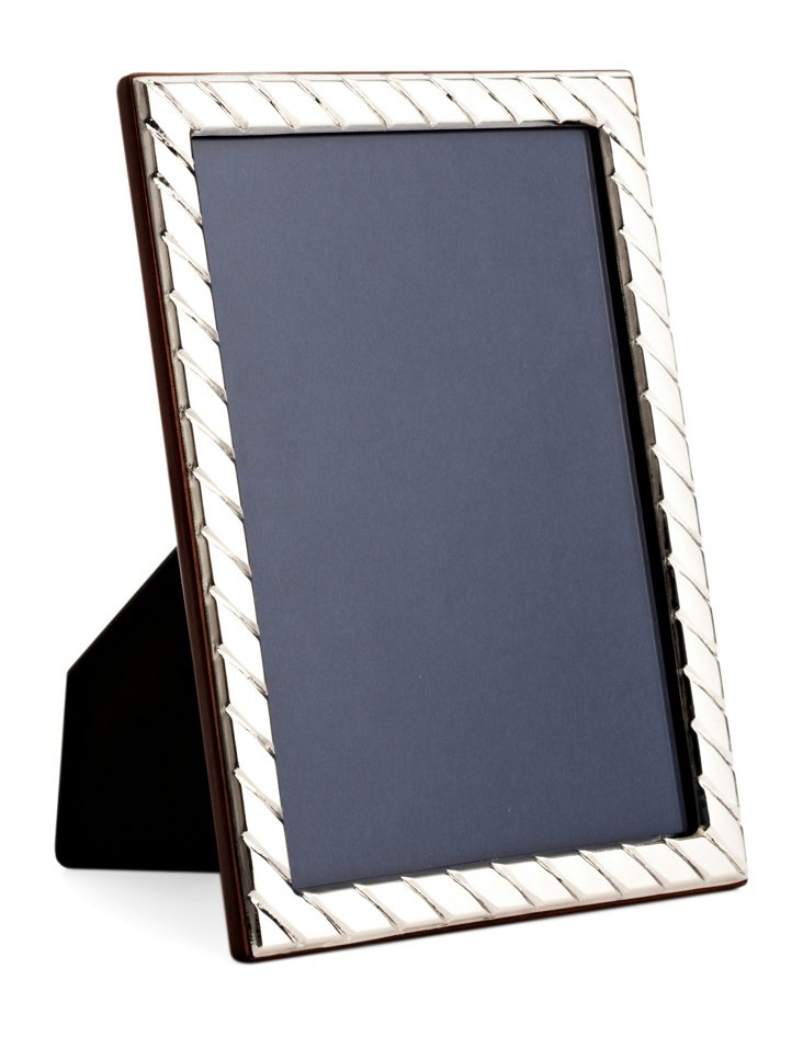 Sterling Silver Diagonal Frame, 5x7
