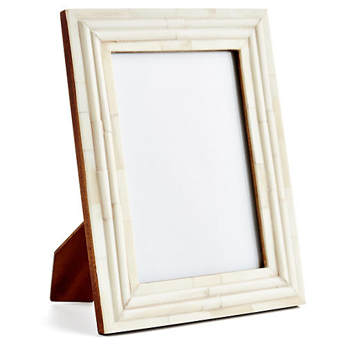 Raised-Interior Frame, 4x6, Ivory