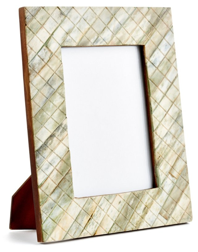 Darjeeling Carved Frame, 4x6, Green