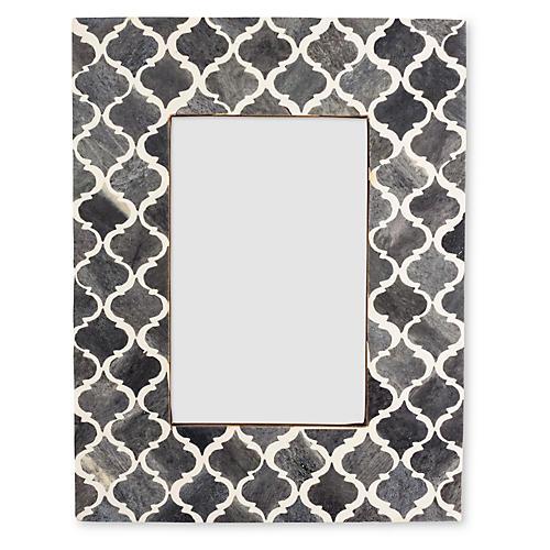 Moroccan Tile Frame, 4x6, Gray