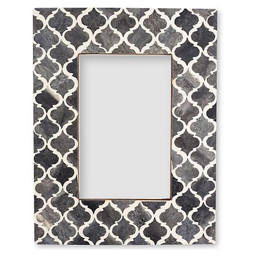 5x7 Moroccan Tile Frame, Gray