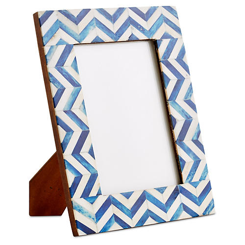 Chevron Frame, Blue